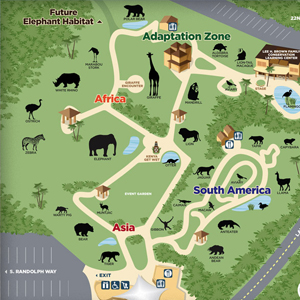 map of reid park exhibits