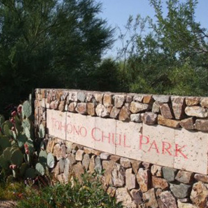 tohono chul park entrance sign