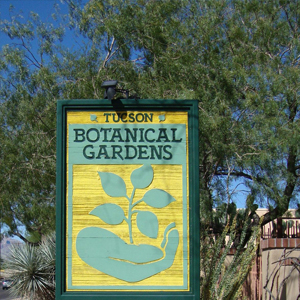 tucson botanical gardens entrance sign